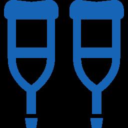 Crutches icon 2松葉杖のアイコン素材 2